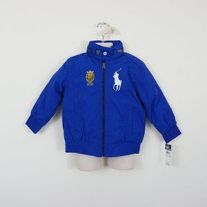NWT Polo Ralph Lauren Boys Jacket Royal Blue 2, 4